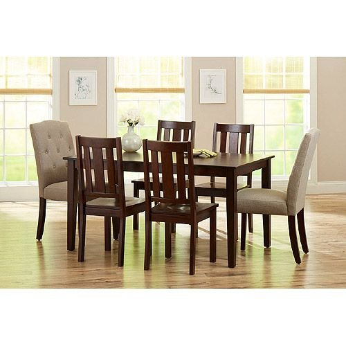 Amazoncom Better Homes and Gardens 6 Piece Dining Set Mocha
