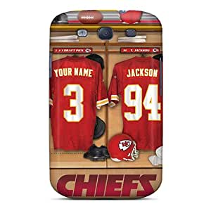 Galaxy Cover Case - Kansas City Chiefs Uniform Protective Case Compatibel With Galaxy S3