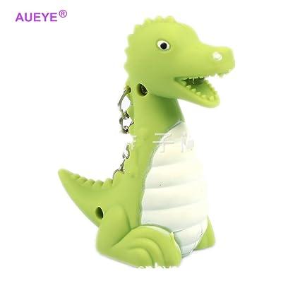 Dinosaurio llavero con linterna LED y efectos de sonido ...