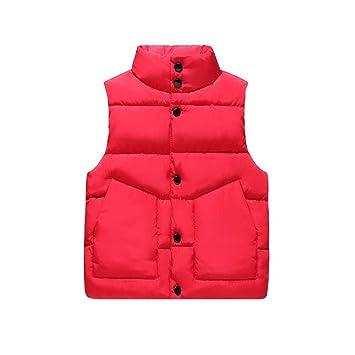 HOQTUM Chalecos para niños Chicos y Chicas de pie con Cuello Abajo algodón  cálido Chalecos para 6c3057b82883