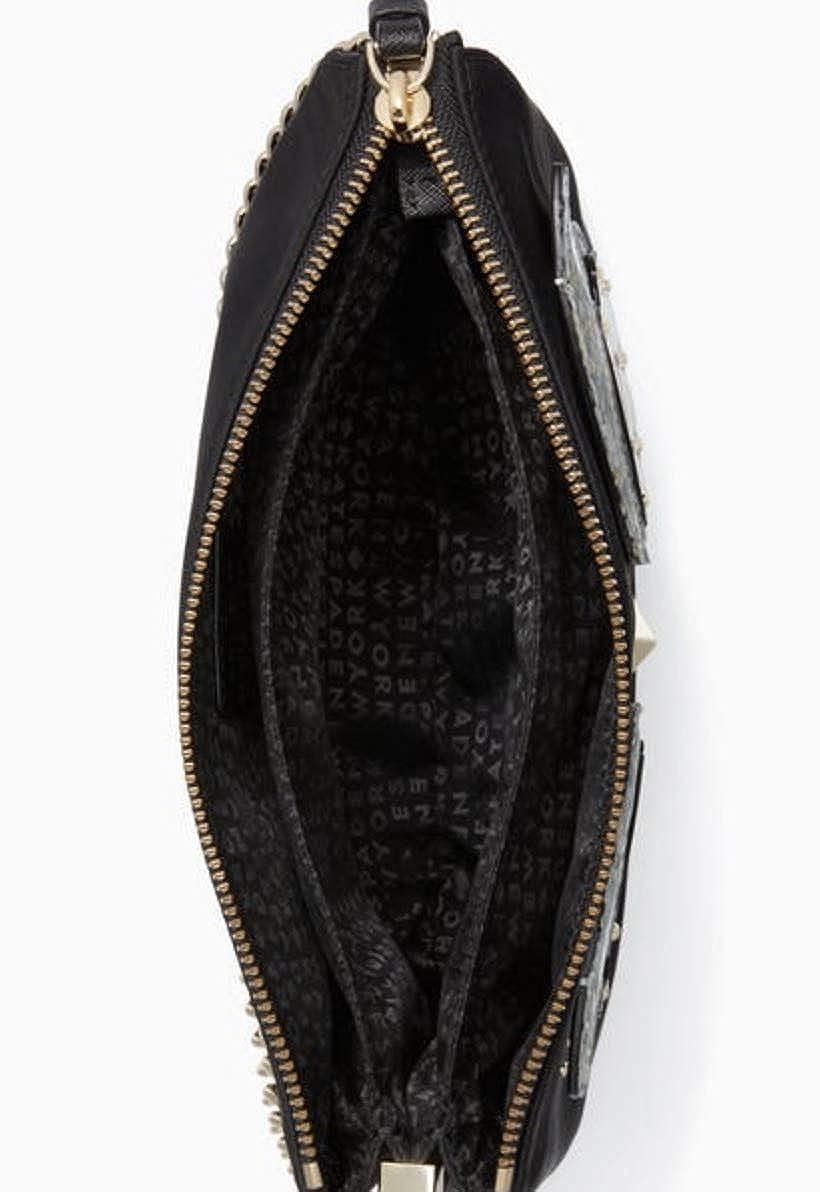 83b442eeb33f Kate Spade Star Bright Owl Madelyne Crossbody Handbag Black: Amazon ...