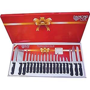 Amazon.com: Diamond Cut ctdc19 Cubiertos (19 piezas: Kitchen ...
