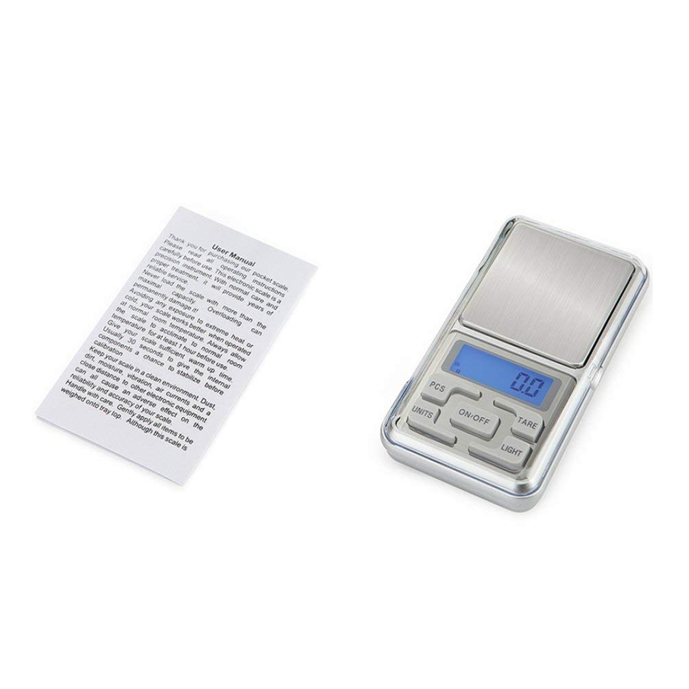 fcgvdhbgfmhgluyu HT-668B 500g/0.1g Precision Digital Scales for Gold Sterling Silver Jewelry - Silver