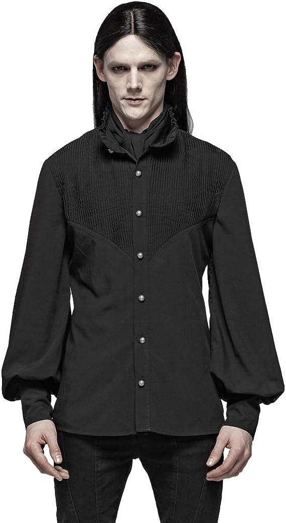 Camisa gótica de Manga Larga para Hombre, con diseño de Farol de Aristocrat: Amazon.es: Ropa y accesorios