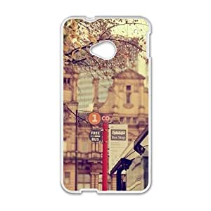 street view personalized high quality cell phone case for HTC M7 wangjiang maoyi
