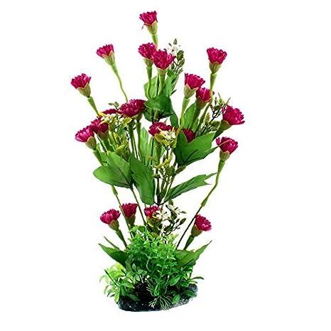 Flor Hierba Planta de agua del acuario Tela Decoración 33cm Rojo High Green: Amazon.es: Productos para mascotas