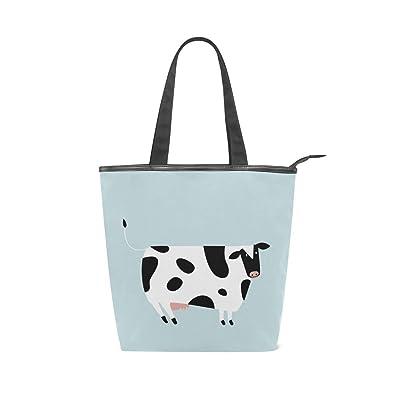 Amazon.com: Bolsas de lona para mujer con diseño de vaca ...