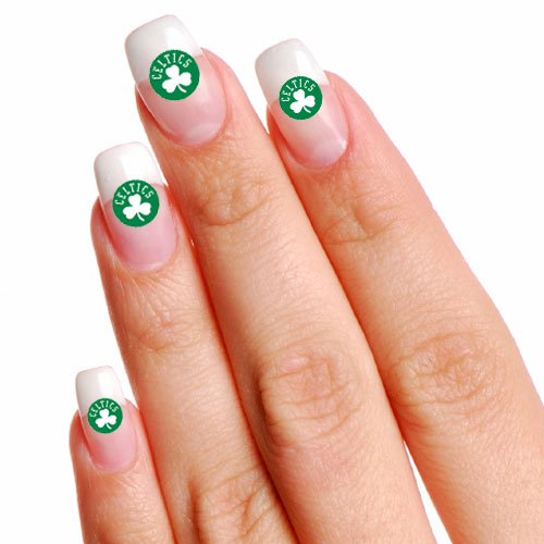 NBA Boston Celtics 4-Pack Temporary Nail Tattoos