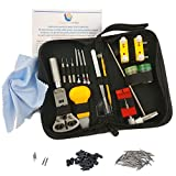 watch repair kit instructions - Clockwork Hen Professional Watch Repair Tool Kit. Watchmaker multi toolset best for battery replacement, changing and resizing watch straps. INSTRUCTIONS, zipped case, spring pins and microfiber cloth