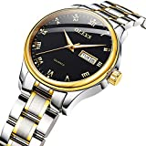Women Watch with Date and Day,Casual Quartz Stainless Steel Women Watch,Business Woman Watches on Sale,Classic Analog Watch for Women,Luminous Female Watches,OLEVS Lady Wristwatch with Black Dial