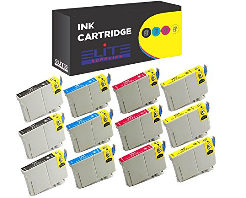 12 Pack Elite Supplies Remanufactured Inkjet Cartridge Replacement for Epson T126 Works With Epson Stylus NX330 NX430 WF-7010 WF-7510 WF-7520 435 520 545 60 630 633 635 645 840 845 WF-3520 WF-3540