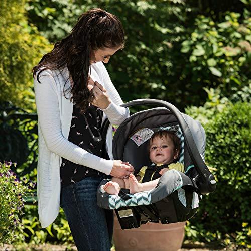 513 JqSTM2L - Evenflo Vive Travel System With Embrace Infant Car Seat, Spearmint Spree