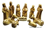 ChristianGiftsHome own007 Olive Wood Nativity Set, Brown
