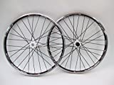 Vuelta XRP Pro 26 inch 26in Mountain Bike Wheels White Hubs Disc Rim Brake Wheel Set Black Shimano Compatible