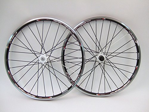 Vuelta XRP Pro 26 inch 26in Mountain Bike Wheels White Hubs Disc Rim Brake Wheel Set Black Shimano Compatible by Vuelta