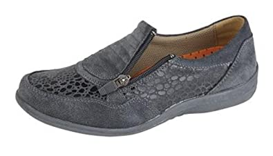 70c7e6db0bd0 Womens Suede Extra Wide EEE Fit Shoes Size 4-9 Grey (4)  Amazon.co ...