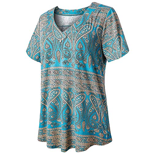 Giulot Womens Swing Tunic Tops Loose Fit Comfy Flattering T Shirt Plus Size Short Sleeve V Neck Swing Floral Shirt - Teddies Stretch Ruffled