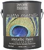 Modern Masters MM591 Matte Metallic Paint, Platinum Silver, Gallon