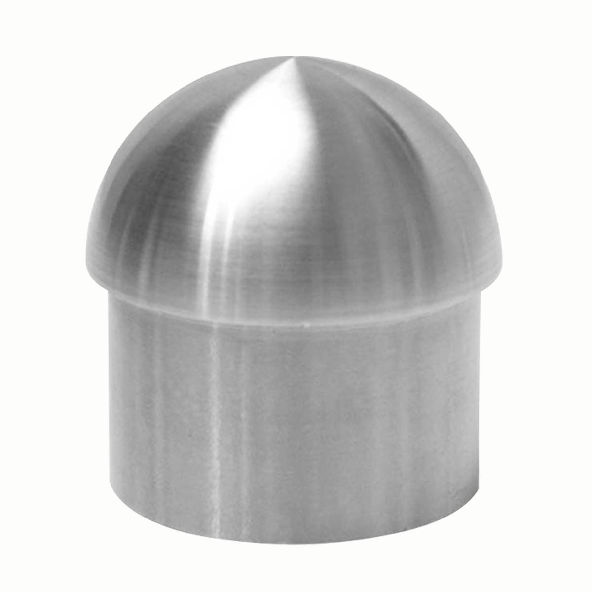 Handicap Rail Or Boat Bar 2'' Domed End Cap Stainless Steel | Renovator's Supply