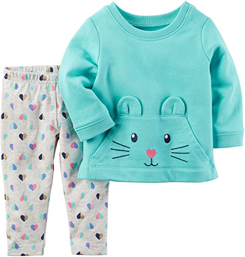 Carter's Baby Girls' 2 Piece Character Top and Leggings Set 6 Months