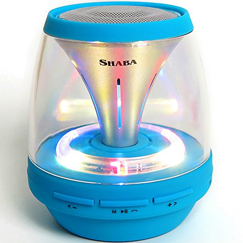 12 LED Lights pulse speaker, SHABA Vivid Tube Luminous Portable Bluetooth Speaker for iPhone,iPad,iPod,Android, MP3 Player,Laptop,tablet (Tube Portable Speaker)