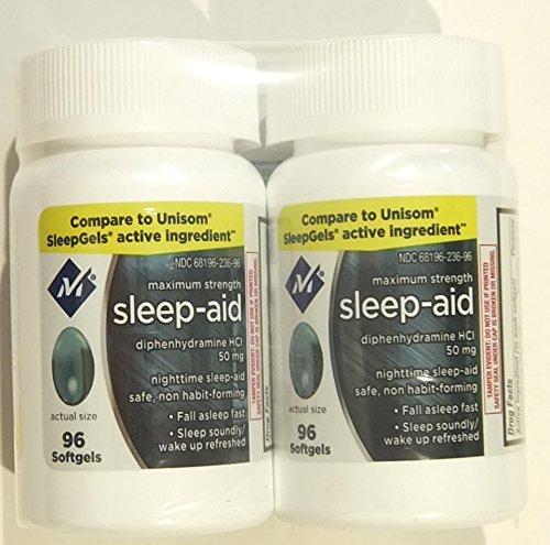 Member's Mark Maximum Strength Nighttime Sleep Aid, Diphenhydramine HCI 50 mg (192 softgels)