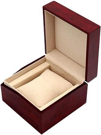 LIYANSBH - Cajas para relojes Caja de Reloj de Rejilla Individual for Hombres Caja de Viaje de Madera Joyas Pulsera Regalo Almacenamiento de exhibición: Amazon.es: Hogar