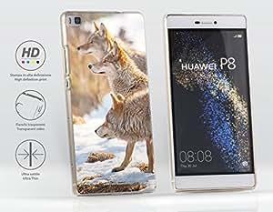 Funda Carcasa dura para Huawei Ascend P8 - Lobo