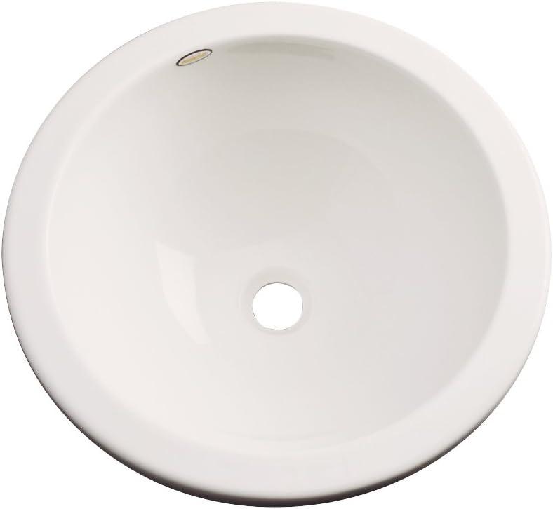 Dekor Sinks 74002 Perris Cast Acrylic Under Counter Bathroom Sink, Almond