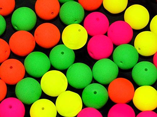 24pcs-10mm-czech-glass-round-pressed-beads-estrela-neon-uv-active-warm-neon-mix