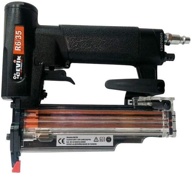 Cevik R6/35 - Clavadora para pins y minibrads de 0.6 de 12 a 30 mm.