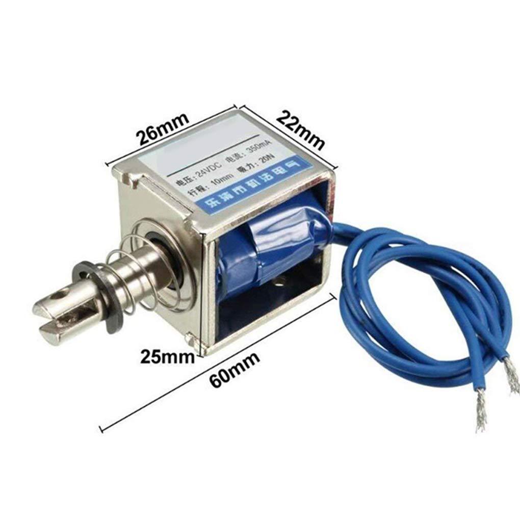 2A DC Restablecer 10mm 20N Fuerza Push Pull Tipo de bastidor abierto herramienta electroim/án solenoide JF-0826B 12V