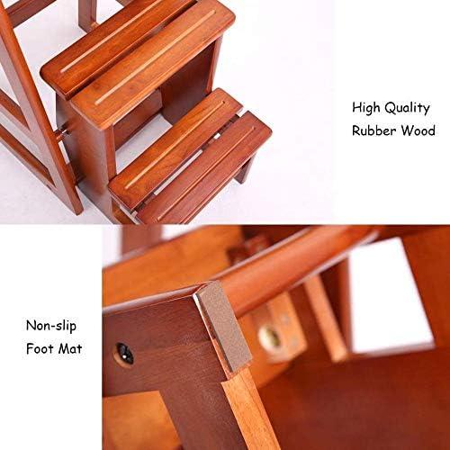 Escabeau Pliant Marchepied Portable Fleur Tablette Multifonction 3-Escabeau Tabouret Escalier Chaises de Cuisine Salle de Bain Bureau QIQIDEDIAN (Size : High 74cm)