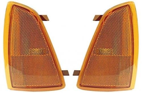 Go-Parts PAIR/SET OE Replacement for 1994-1997 Chevrolet S10 Side Marker Lights Assemblies/Lens Cover - Front Left & Right (Driver & Passenger) Side For Chevrolet -