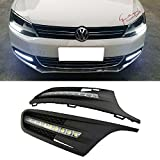 iJDMTOY OEM Fit Xenon White 9-LED High Power LED Daytime Running Lights For 2011-2014 Volkswagen Jetta