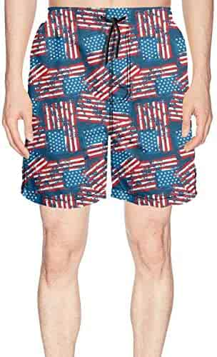 BSKZ@SH Mens Board Shorts Cool Happy Easter Bunny 100/% Polyester Athletic Shorts