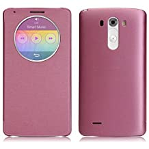 Sannysis 2015 Newest Quick Circle Case Cover With Qi Wireless Charging+NFC For LG G3 D855 D850 Pink
