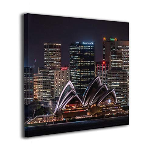 Jaylut Square Frameless Painting Print Artwork Sydney Opera House Drawing Picture Wall Decor for Home Office 20