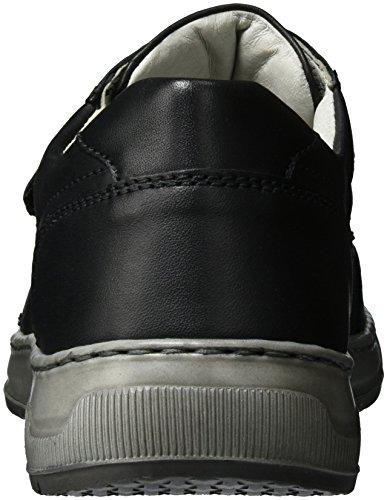 Waldläufer Hadrian, Zapatillas con Velcro Hombre Negro (Schwarz)