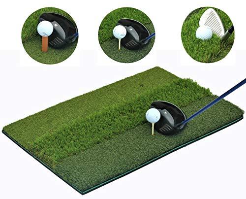 That'll Play - SBZ Golf PremiumTri-Turf Hitting Grass Mat - Rough & Fairway, Portable, Training Mat - 16