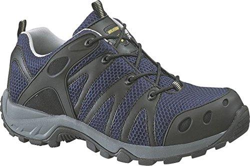 Amherst Shoe (Wolverine Men's Amherst Low Cut Composite-Toe EH Work Shoe Navy 11.0/M and Work Sock Bundle)