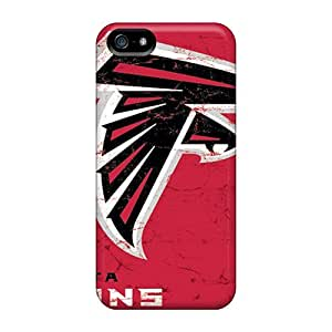 Scratch Protection Hard Phone Covers For Iphone 5/5s (maq19152xolz) Provide Private Custom Trendy Atlanta Falcons Skin hjbrhga1544