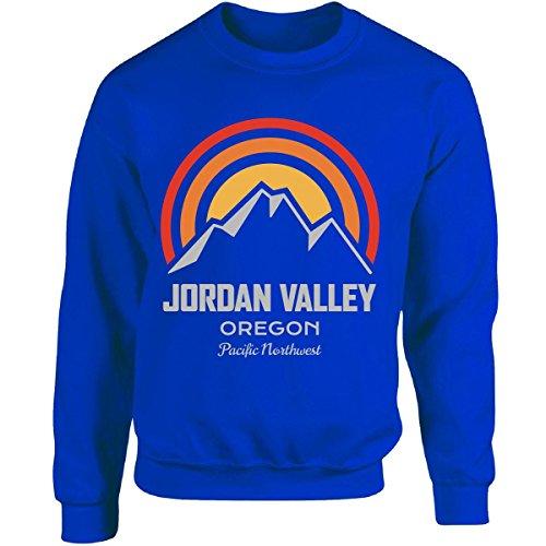 Mountain Sunrise Jordan Valley Oregon - Adult Sweatshirt M Royal by KewlCover
