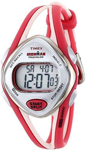 Timex Women's T5K787 Ironman Sleek 50-Lap Red Resin Digital Watch