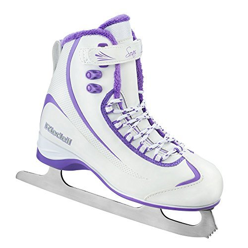 Riedell 625 Soar / Womens Beginner/Soft Figure Ice Skates / Color: White and Violet / Size: 10