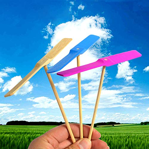 TONGSHAO 10Pcs-Bamboo Dragonfly Flying Toy. Child Educational Toy That mimics The Rotation of Helicopter