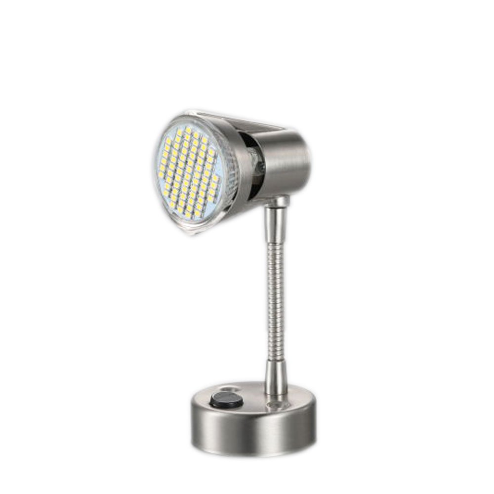 Gold Stars RV Reading Light MR16 Base LED Bulb 12v 3 Pack, Stainless Steel Finish