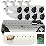 Cheap GW Security 8 Channel 960H & D1 HDMI DVR Surveillance Security Camera System with 8 High-Resolution Cameras and Pre-Installed 1TB Hard Drive