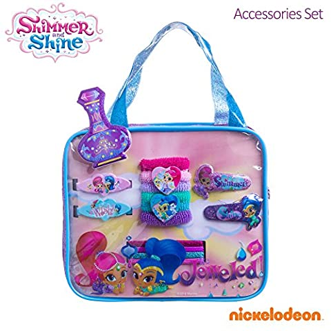 Shimmer and Shine Girls Bag Hair Accessories Terries Elastics Clips Barrettes - Shimmer Spiral