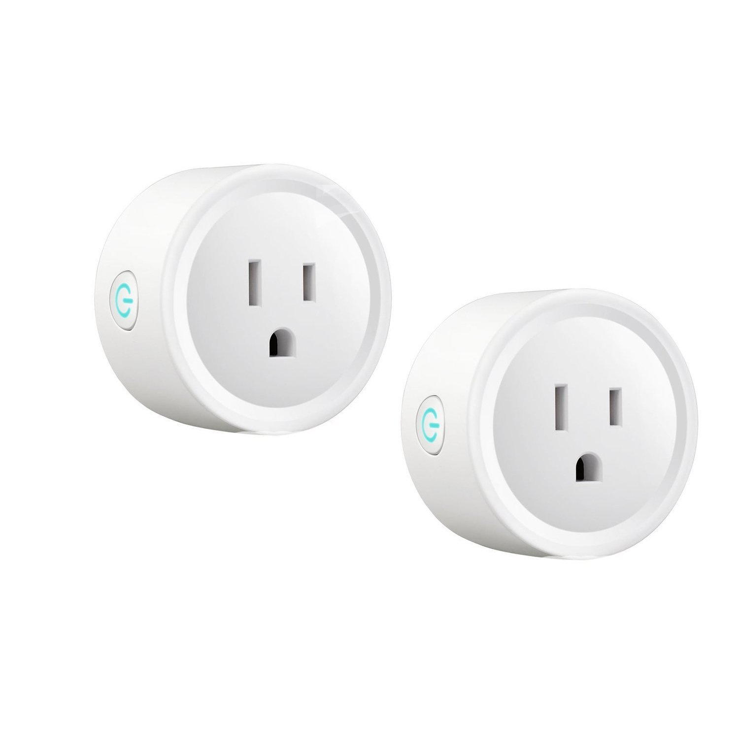 WIFI Smart Plug Work with Amazon Alexa, Google Home, IFTTT, BASDUN Mini Wireless Outlet Switch Remote Control Your Devices from Anywhere, No Hub Required (2 Pack)